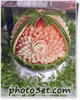 میوه آرایی هندوانه - طرح گل