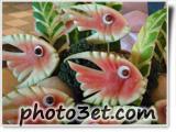 تزئین میوه ها