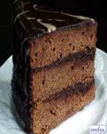 عکس کیک تیکه ای شوکولاتی