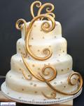 کیک گل روز شکلاتی