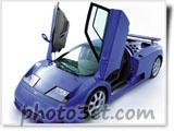 اتومبیل اسپرت آبی جدید