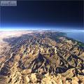 عکس هوایی و ماهواره ای از قله دماوند