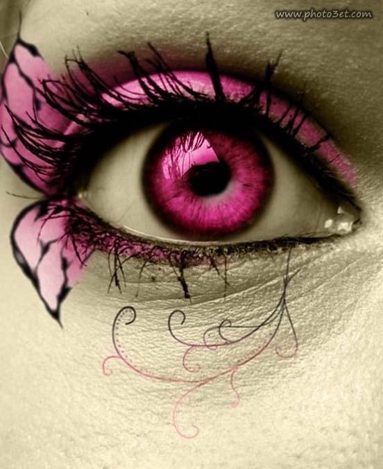 آرایش بنفش چشم