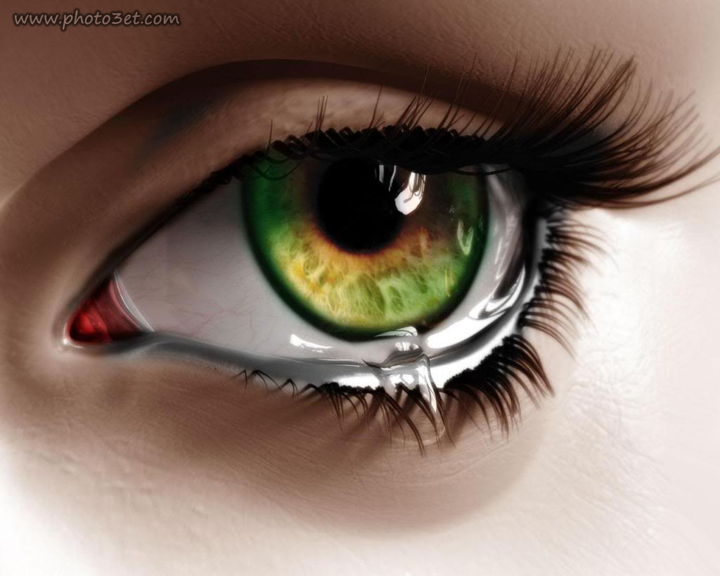 اشک در چشم