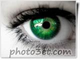 چشم سبز رنگ