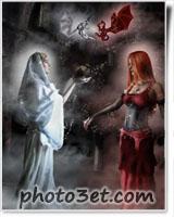 دختر فرشته و شیطان - فانتزی