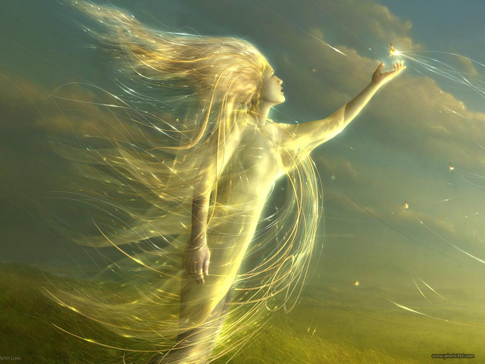عکس دختر فانتزی رویایی و آسمانی فرشته