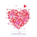 عکس قلب با گل ها