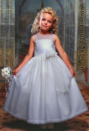 فوتوست - لباس عروس بچه گانه خارجی