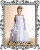 مدل جدید لباس عروس دخنر بچه ها