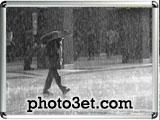 عکس زیر باران با چتر