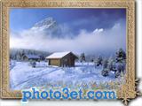 کلبه خوشگل در زمستان