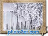 عکس قندیل بستن یخ در فصل زمستان
