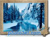 عکس جنگل و رودخانه در فصل زمستان