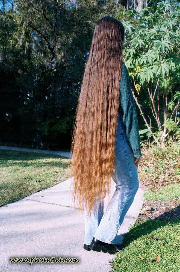 عکس دختر مو بلند فرفری