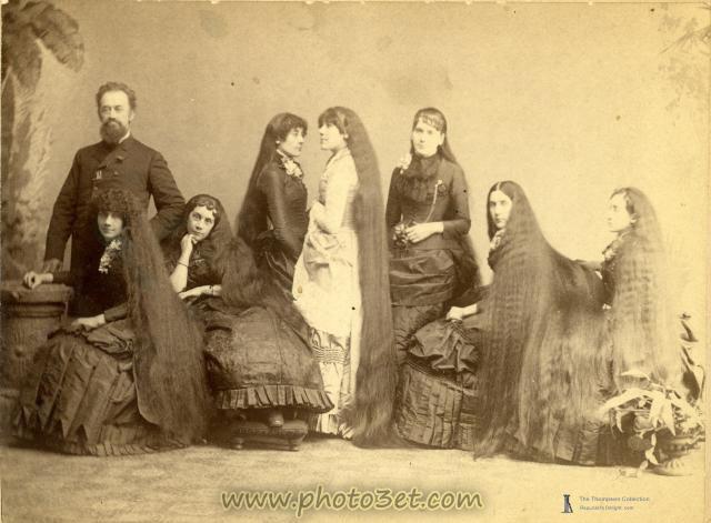 عکس خانواده دختران مو بلند