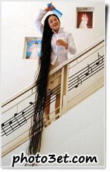 عکس بلند ترین موی دنیا - زن کره ای