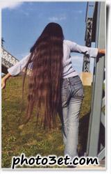 عکس قشنگ از دختر مو بلند خارجی