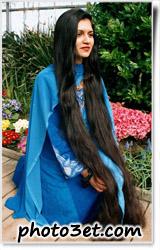 عکس بلندترین موی سیاه دختر هندی - هندوستان