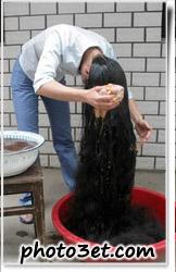 شوستشوی موی بلند